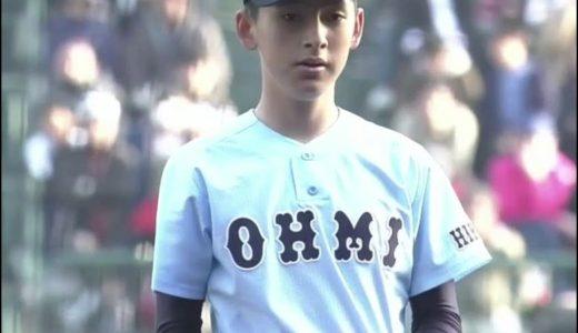 林優樹は近江高校のイケメン投手!笑顔が可愛い【画像】