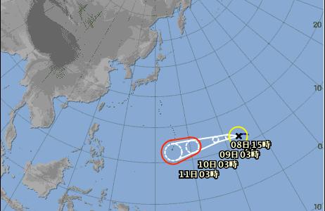 【台風22号2018年】マンクット最新情報!米軍基地進路予想